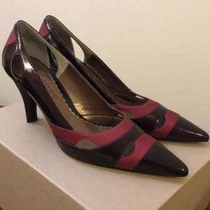 Burgundy J.Renee Pumps (7.5)